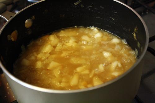 Pear onion jam